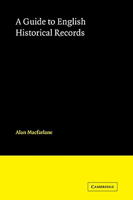 English Historical Records - MacFarlane, Alan