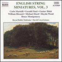English String Miniatures, Vol. 3 - Robert Gibbs (violin); Royal Ballet Sinfonia; David Lloyd-Jones (conductor)