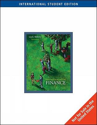 Entrepreneurial Finance - Leach, Chris, and Melicher, Ronald W.