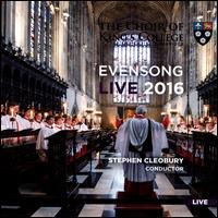 Evensong Live 2016 - Benjamin Sheen (alto); Daniel Lewis (tenor); Douglas Tang (organ); Henry Hawkesworth (bass); Joel Williams (tenor);...