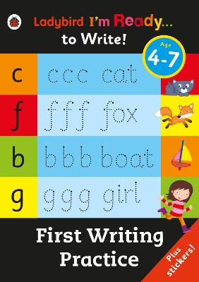 First Writing Practice: Ladybird I'm Ready to Write Sticker Activity Book -