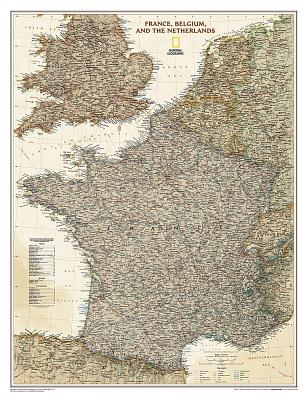 France, Belgium and The Netherlands Antique Map: PP.NG01020459 -