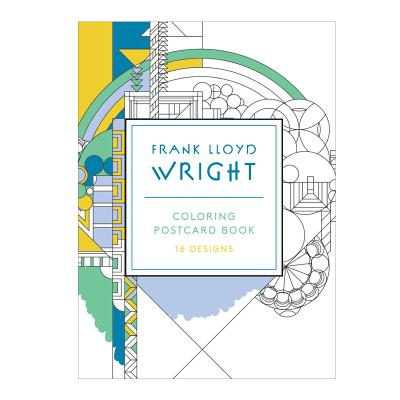 Frank Lloyd Wright Coloring Postcards - Lloyd Wright, Frank (Artist)