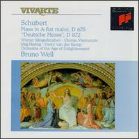 Franz Schubert: Mass in A flat major, D 678; Deutsche Messe, D 872 - Arno Hartmann (organ); Harry van der Kamp (bass); Jorg Hering; Stefan Preyer (soprano); Weinhappel (alto);...