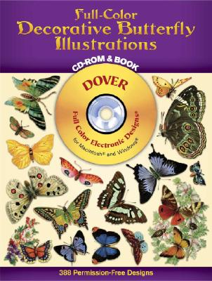 Full-Color Decorative Butterfly Illustrations CD-ROM and Book - Dover Publications Inc, and Dover Clip Art Editors, and Clip Art