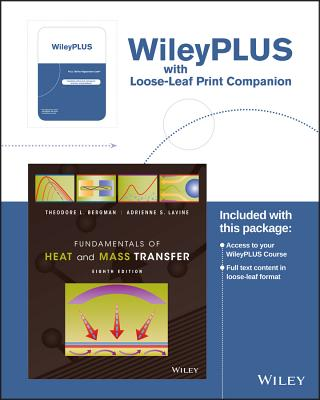 Fundamentals of Heat and Mass Transfer, 8e Wileyplus Registration Card + Loose-Leaf Print Companion - Bergman, Theodore L