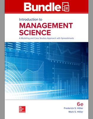 Gen Combo LL Introduction to Management Science; Connect Access Card - Hillier, Frederick S, and Hillier, Mark S, Professor