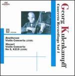 Georg Kulenkampff: Concerto Recordings, Vol. 1