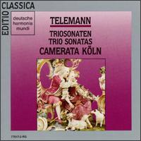 Georg Philipp Telemann: Trio Sonatas - Camerata Köln; Hans-Peter Westermann (oboe); Harald Hoeren (harpsichord); Michael Schneider (recorder);...