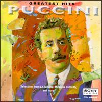 Giacomo Puccini: Greatest Hits - Bidu Sayão (soprano); Eva Marton (soprano); Francesco Valentino (baritone); Gillian Knight (mezzo-soprano);...