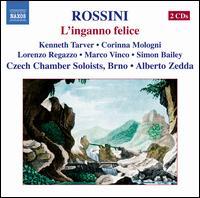 Gioachino Rossini: L'inganno felice - Corinna Mologni (soprano); Gianni Fabbrini (harpsichord); Kenneth Tarver (tenor); Lorenzo Regazzo (bass); Marco Vinco (bass);...