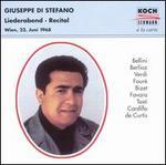 Giuseppe di Stefano: Liederabend (Wien, 22. Juni 1968)