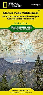 Glacier Peak Wilderness, Mount Baker/Snoqualmie & Okanogan-Wenatchee National Forests. Trails Illust - National Geographic Maps