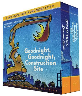 Goodnight, Goodnight, Construction Site and Steam Train, Dream Train Board Books Boxed Set - Rinker, Sherri Duskey