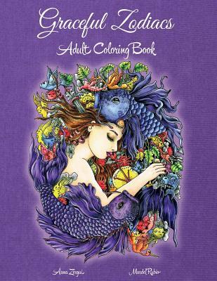 Graceful Zodiacs: Adult Coloring Book - Amulet, Phoenix