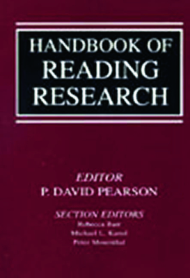 Handbook of Reading Research V1 - Pearson, P David (Editor), and Barr, Rebecca (Editor), and Kamil, Michael L (Editor)