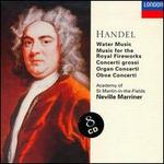Handel: Orchestral Works - Alan Loveday (violin); Andrew Davis (organ); Andrew McGee (violin); Christopher Hogwood (continuo); George Malcolm (harpsichord); George Malcolm (organ); Hugh Maguire (violin); Iona Brown (violin); Kenneth Heath (cello); Malcolm Latchem (violin)
