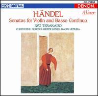 Handel: Violin Sonatas - Christophe Rousset (harpsichord); Hidemi Suzuki (baroque cello); Kaori Uemura (viola da gamba); Ryo Terakado (baroque violin)