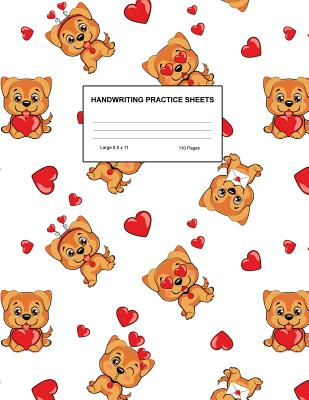 Handwriting Practice Sheets: Cute Blank Lined Paper Notebook for Writing Exercise and Cursive Worksheets - Perfect Workbook for Preschool, Kindergarten, 1st, 2nd, 3rd and 4th Grade Kids - Product Code A4 3402 - Houston, Teagan