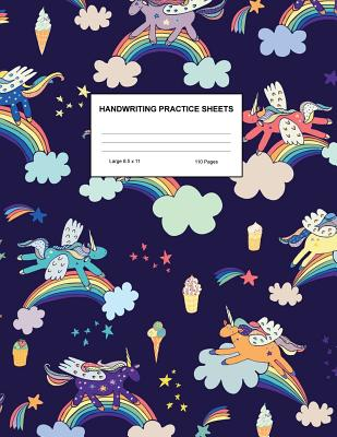 Handwriting Practice Sheets: Cute Blank Lined Paper Notebook for Writing Exercise and Cursive Worksheets - Perfect Workbook for Preschool, Kindergarten, 1st, 2nd, 3rd and 4th Grade Kids - Product Code A4 8183 - Randall, Jewel