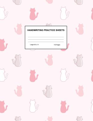 Handwriting Practice Sheets: Cute Blank Lined Paper Notebook for Writing Exercise and Cursive Worksheets - Perfect Workbook for Preschool, Kindergarten, 1st, 2nd, 3rd and 4th Grade Kids - Product Code A4 8299 - Key, Amanda