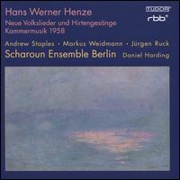 Hans Werner Henze: Neue Volkslieder und Hirtengesänge Kammermusik 1958 - Andrew Staples (tenor); Christophe Horak (violin); Claudio Bohórquez (cello); Jürgen Ruck (guitar);...