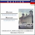 Haydn: Harmoniemesse; Mozart: Vespers K321
