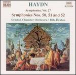 Haydn: Symphonies Nos. 50, 51 and 52
