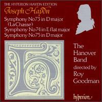 Haydn: Symphonies Nos. 73, 74 & 75 - Gavin Edwards (horn); Hanover Band; Raul Diaz (horn); Sebastian Comberti (cello)