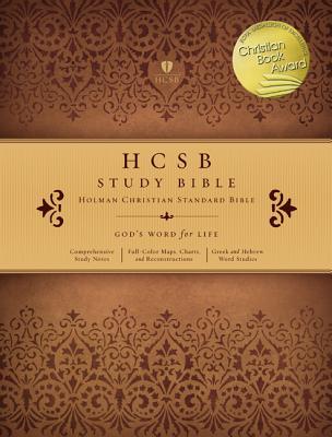 HCSB Study Bible, Mantova Brown Leathertouch - Holman Bible Staff