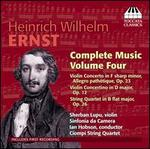 Henirch Wilhelm Ernst: Complete Music, Vol. 4