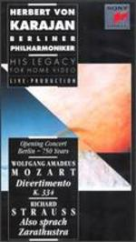 Herbert Von Karajan - His Legacy for Home Video: Opening Concert Berlin - 750 Years