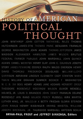 History of American Political Thought - Frost, Bryan-Paul