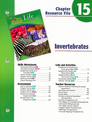 Holt Science Technology Life Science Chapter 15 Resource Fil E