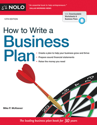 How to Write a Business Plan - McKeever, Mike