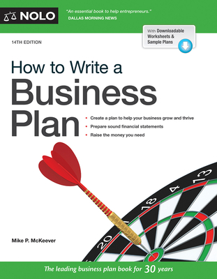 How to Write a Business Plan - McKeever, Mike P