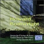 Howard Boatwright: String Quartet No. 2