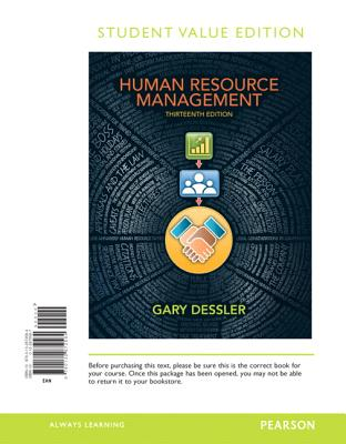Human Resource Management, Student Value Edition - Dessler, Gary