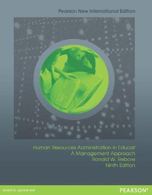 Human Resources Administration in Education: A Management Approach - Rebore, Ronald W.