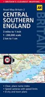 Central Southern England Road Map (Aa Gb2) (Aa Road Map Britain)