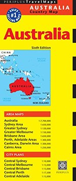 Australia Travel Map Sixth Edition (Periplus Travel Maps)
