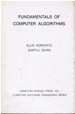 Fundamentals of Computer Algorithms (Autographed)