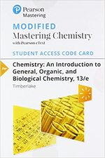 Modified Mastering Chemistry with Pearson Etext--Standalone Access Card--For Chemistry: An Introduction to General, Organic, and Biological Chemistry