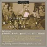 In Honor of Rudolf Kolisch