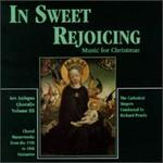 In Sweet Rejoicing, Music For Christmas-Ars Antique Choralis, Vol. 3