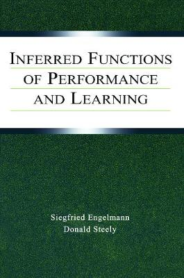 Inferred Functions of Performance and Learning - Engelmann, Siegfried