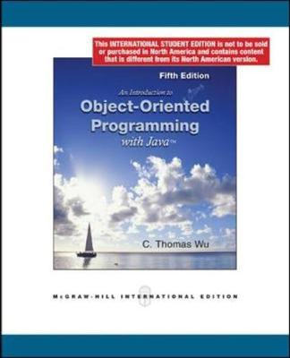 Introduction to Object-Oriented Programming with Java - Wu, C.Thomas