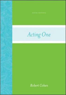 Acting One - Cohen, Robert, Professor