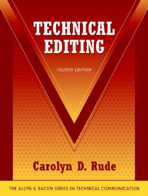 Technical Editing - Rude, Carolyn