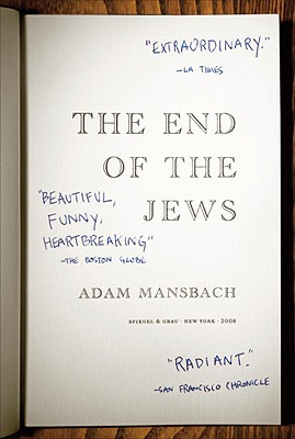 The End of the Jews - Mansbach, Adam